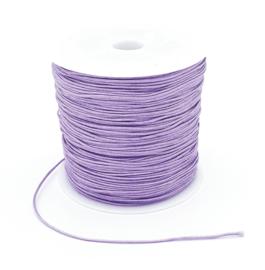 Macrame draad 0.8 mm. lavendel paars per meter