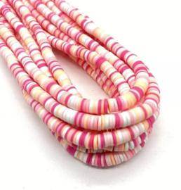 Katsuki kralen 6 mm mix licht roze per streng