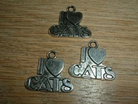Mooie zilverkleurige hangertjes van I LOVE CATS