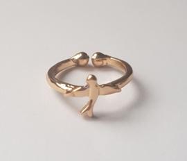 Must have ringen in goudkleur met vogeltje