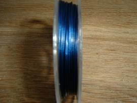 Gecoat staaldraad 0,45 mm. in de kleur donkerblauw