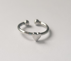 Must have ringen in zilverkleur met hartje