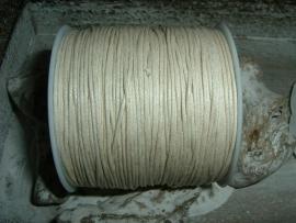 Waxkoord in een mooie beige kleur 1.0 mm.