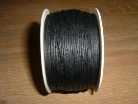 Waxkoord zwart 0,5 mm.