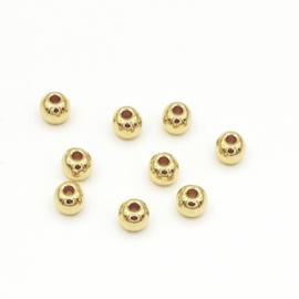 DQ metalen kraal 5mm Goud (nikkelvrij)