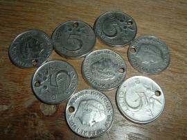 Mooie hangertjes Munt 5 cent