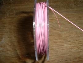 Gecoat staaldraad 0,45 mm. in de kleur roze