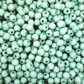 100 stuks Acryl kralen zee blauw 4mm.