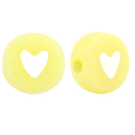 Letterkraal hartje geel