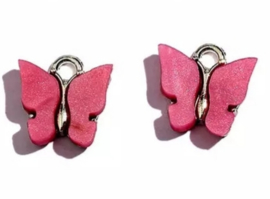 Bedel vlinder zilver Roze