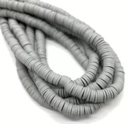 Katsuki kralen 6 mm grijs per streng