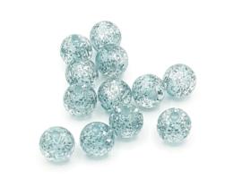 Mooie lichtblauwe Polaris glitterkralen van 8 mm.