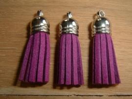 Mooie paarse kwastjes met zilverkleurig kapje