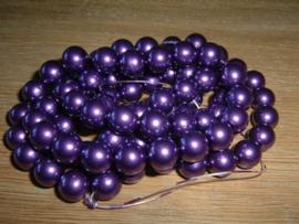 10 stuks paarse glasparels 10 mm.