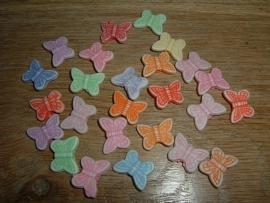 Mooie pastelkleurige mix van vlindertjes