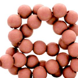 100 stuks Acryl kralen Terracotte roze 4mm.