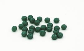 25 Stuks mooie Top Facet disc kralen in pijnboom groen van 6 mm.