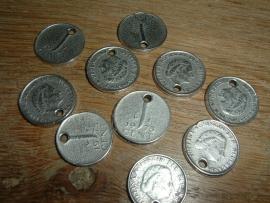 Mooie hangertjes Munt 1 cent