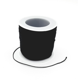 Macrame draad 0.8 mm. zwart per meter