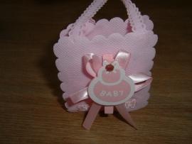 """Mooie kleine roze tasjes  """"It's a girl"""""""