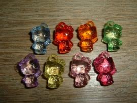 Leuke kleine gekleurde Hello Kitty hangertjes