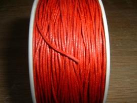 Waxkoord rood 0,5 mm.