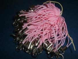 10 Stuks roze telefoonkoordjes