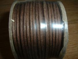 Waxkoord bruin 2.0 mm.