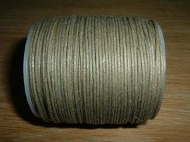 Waxkoord in een mooie taupe/grijze metallic kleur 1.0 mm.