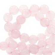 Half edelsteen kralen rond 8mm roze Princess opal