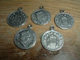 Mooie hangertjes Munt 1 penny