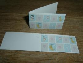 Mini kaartjes baby blauw