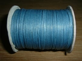 Waxkoord in een mooie denim blauwe metallic kleur 1.0 mm.