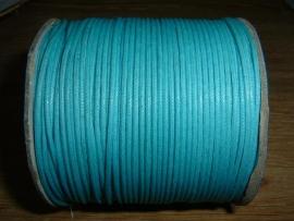 Waxkoord in turquoise 1,5 mm.