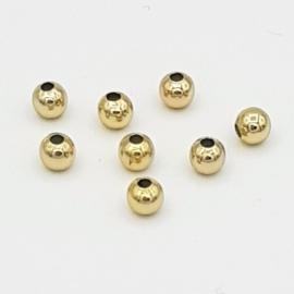 Mooie DQ metalen kraaltjes 3 mm.