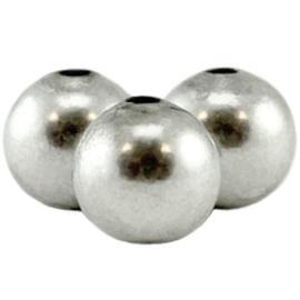 DQ metaal ronde kraal 4mm Antiek Zilver