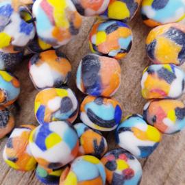 Mooie gekleurde glaskralen 8 mm.