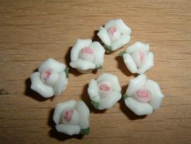 Mooie keramieke  wit met roze roosjes