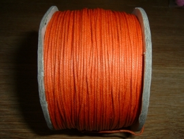 Waxkoord oranje 0.5 mm.