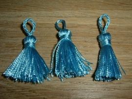 Mooie blauwe kwastjes van 25 mm.
