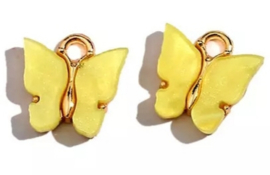 Bedel vlinder Goud Geel