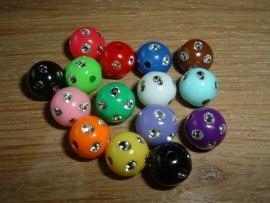 15 Stuks mooie glitterballen in mixkleuren