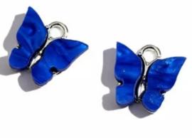 Bedel vlinder zilver Blauw