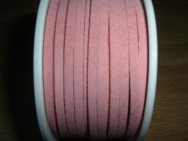 Mooie roze imitatie suede veters