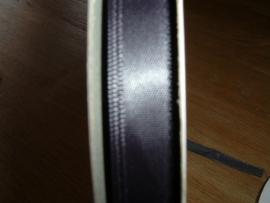 Mooi satijnlint 9 mm. in de kleur antraciet