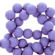 50 stuks Acryl kralen mat violet purple 8mm.