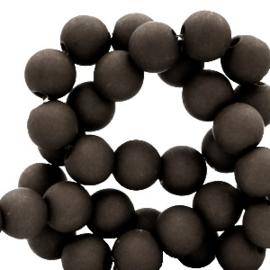 4 mm acryl kralen Zwart