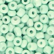 Glaskralen Rocailles 4mm Jade groen 20 gram