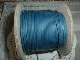 Waxkoord in een mooie petrol kleur van 0.5 mm.