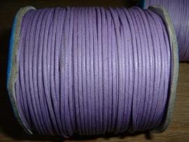 Waxkoord paars 1,5 mm.